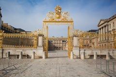 Palazzo dei cancelli dorati di Versailles Immagine Stock