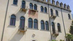 The Palazzo dei Capitani  Captains Palace  in Malcesine, Verona, Italy stock video