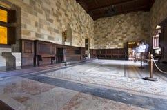 Palazzo dei cavalieri a Rodi fotografia stock