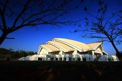 Palazzo dei congressi dorato di giubileo, università di Khon Kaen Fotografie Stock Libere da Diritti