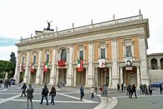 Palazzo dei Conservatori i Rome, Italien Royaltyfri Fotografi