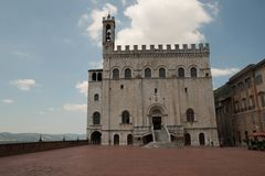 Palazzo dei Consoli in central Gubbio, Italy. Palazzo dei Consoli palace of the consuls is a medieval building located in Piazza grande, the main square of Royalty Free Stock Photos