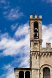 Palazzo dei Consoli, Gubbio. Here are guarded the ceri and efiges of the saint. At twelve o'clock the raising of the ceri takes place in front of this medieval Stock Photo