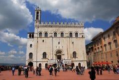 Palazzo-dei Consoli in Gubbio, Italien Lizenzfreie Stockfotografie