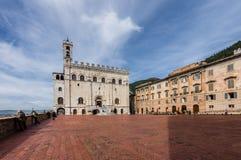 Palazzo dei Consoli in Gubbio Stock Images