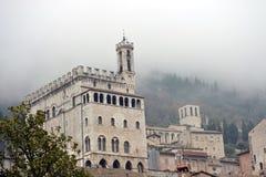 Palazzo dei Consoli i Gubbio Arkivbilder