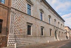 Palazzo-dei Diamanti, Ferrara, Italien Lizenzfreies Stockbild