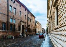 Palazzo dei Diamanti is Renaissance in Ferrara Stock Photography