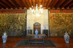 Palazzo dei duchi di Braganza, Guimarães, Portogallo fotografie stock libere da diritti