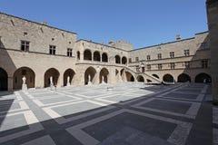 Palazzo dei gran maestri in Rhodes Old Town La Grecia Fotografie Stock
