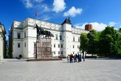 Palazzo dei granduchi della Lituania nella città di Vilnius Immagini Stock