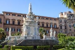 Palazzo dei Normanni在巴勒莫,西西里岛 图库摄影