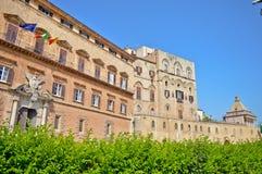 Palazzo dei Normanni i Palermo royaltyfri bild