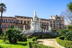Palazzo dei Normanni i Palermo, Sicilien Arkivbilder