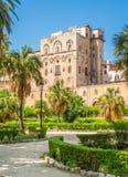 Palazzo dei Normanni pałac Royal Palace Palermo lub normandczycy Sicily, południowy Włochy zdjęcia stock