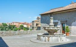 Palazzo dei Papi在圣徒佩莱格里诺区,维泰博,拉齐奥意大利 库存照片