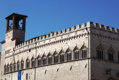 The Palazzo dei Priori or City in Perugia Royalty Free Stock Photos