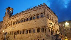 Palazzo-dei Priori is een historisch gebouw in Perugia, Umbrië, centraal Italië stock afbeelding