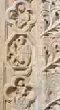 Palazzo dei Priori portal in Perugia. Detail of Palazzo dei Priori in Perugia, Umbria Royalty Free Stock Photo