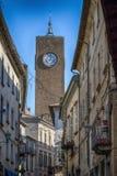 Palazzo dei Sette med det Moro tornet Arkivfoto