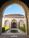 Palazzo del Alcazaba a Malaga, Spagna Immagini Stock Libere da Diritti