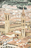 Palazzo del Bargello and Badia Fiorentina steeple, Florence, Ita Stock Photos