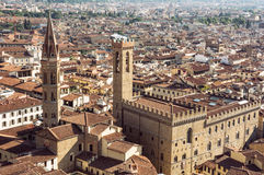 Palazzo del Bargello and Badia Fiorentina steeple, Florence, Ita Royalty Free Stock Photography