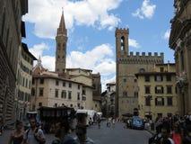 Palazzo del Bargello i Florence Royaltyfria Bilder