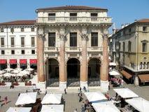 Palazzo del Capitaniato. Signori do dei da praça em Vicenza foto de stock