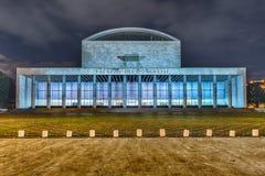 Palazzo del congresso, distretto di EUR, Roma, Italia Fotografia Stock Libera da Diritti