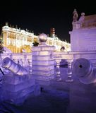Palazzo del ghiaccio Fotografia Stock