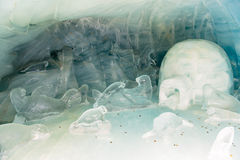Palazzo del ghiaccio del tunnel Immagini Stock