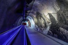 Palazzo del ghiaccio della stazione di Jungfraujoch fotografia stock