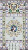 从Palazzo del Governo的细节在的里雅斯特,意大利 库存照片