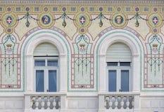 从Palazzo del Governo的细节在的里雅斯特 免版税库存照片