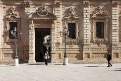 Palazzo Del Governo Lecce Apulia, Italien Stockbild