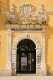 Palazzo del Governo. Matera. Basilicata. Apulia or Puglia. Italy. Entrance to the Palazzo del Governo, today the Prefecture of Matera. Basilicata. Apulia or royalty free stock photography