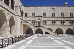 Palazzo del grande supervisore in Rhodos fotografia stock