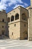 Palazzo del grande supervisore a Rodi, Grecia Immagine Stock Libera da Diritti