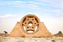 Palazzo del Hisham a Jericho. L'Israele fotografia stock libera da diritti