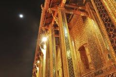 Palazzo del kaew di pra di Wat grande alla notte Bangkok Fotografia Stock Libera da Diritti