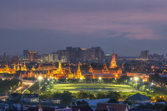 Palazzo del kaew di pra di Wat grande a dustt, Bangkok Tailandia Immagini Stock Libere da Diritti