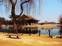 Palazzo del lago korea Immagini Stock