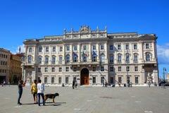 Palazzo-del Lloyd Triestino auf ` Italien Marktplatz-UNITA d in Triest, Lizenzfreie Stockfotografie