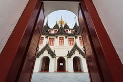 Palazzo del metallo di Loha Prasat in tempio di Wat Ratchanaddar Fotografia Stock Libera da Diritti
