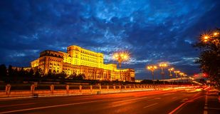 Palazzo del Parlamento a Bucarest Fotografia Stock