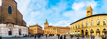 Palazzo del Podesta is building in Bologna, Italy Royalty Free Stock Photography