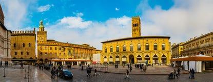Palazzo Del Podesta ist im Bologna, Italien im Bau Lizenzfreie Stockbilder