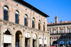 Palazzo del Podesta on Piazza Maggiore in Bologna Stock Photo