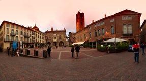 Palazzo del Podesta in vecchia città, Bergamo, Italia Fotografia Stock Libera da Diritti